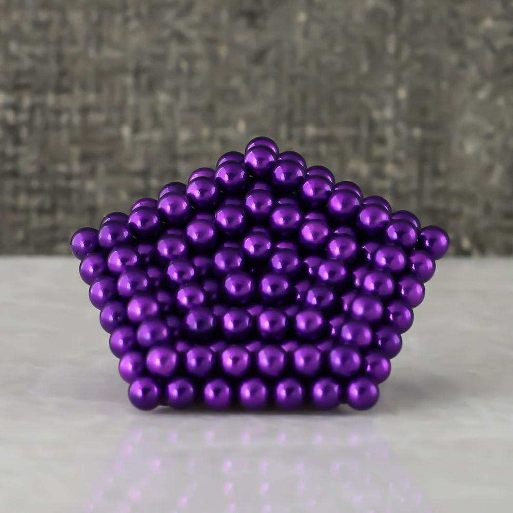 purple neoballs sculpture magnet spheres