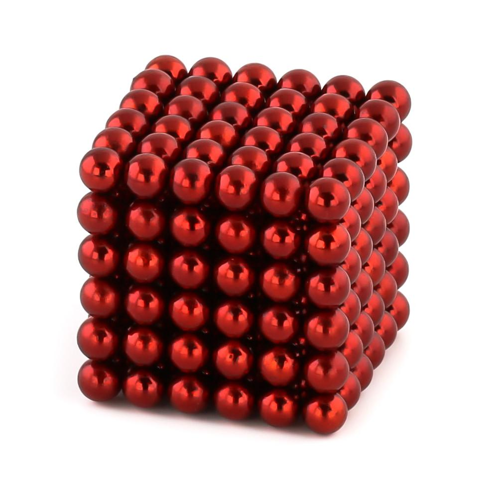 red neoballs sculpture magnet spheres cube