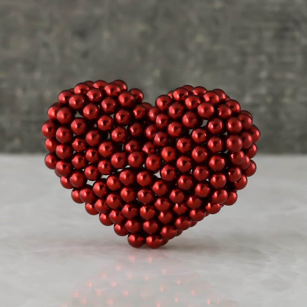 red neoballs sculpture magnet spheres
