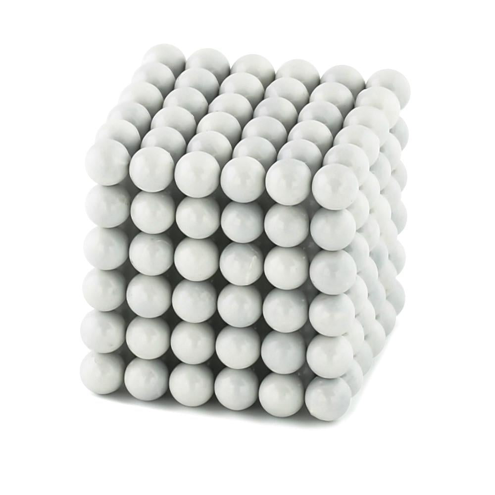 white neoballs sculpture magnet spheres