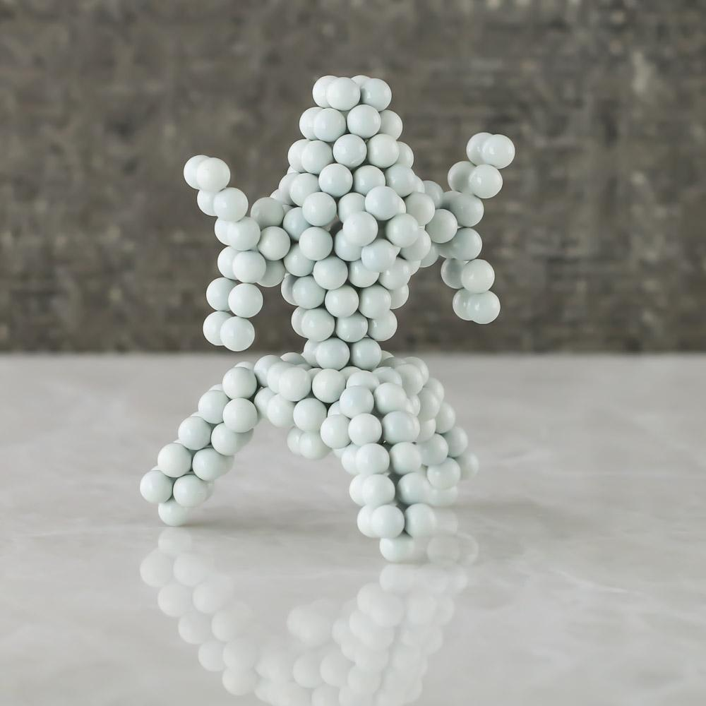 white neoballs sculpture magnet spheres flower