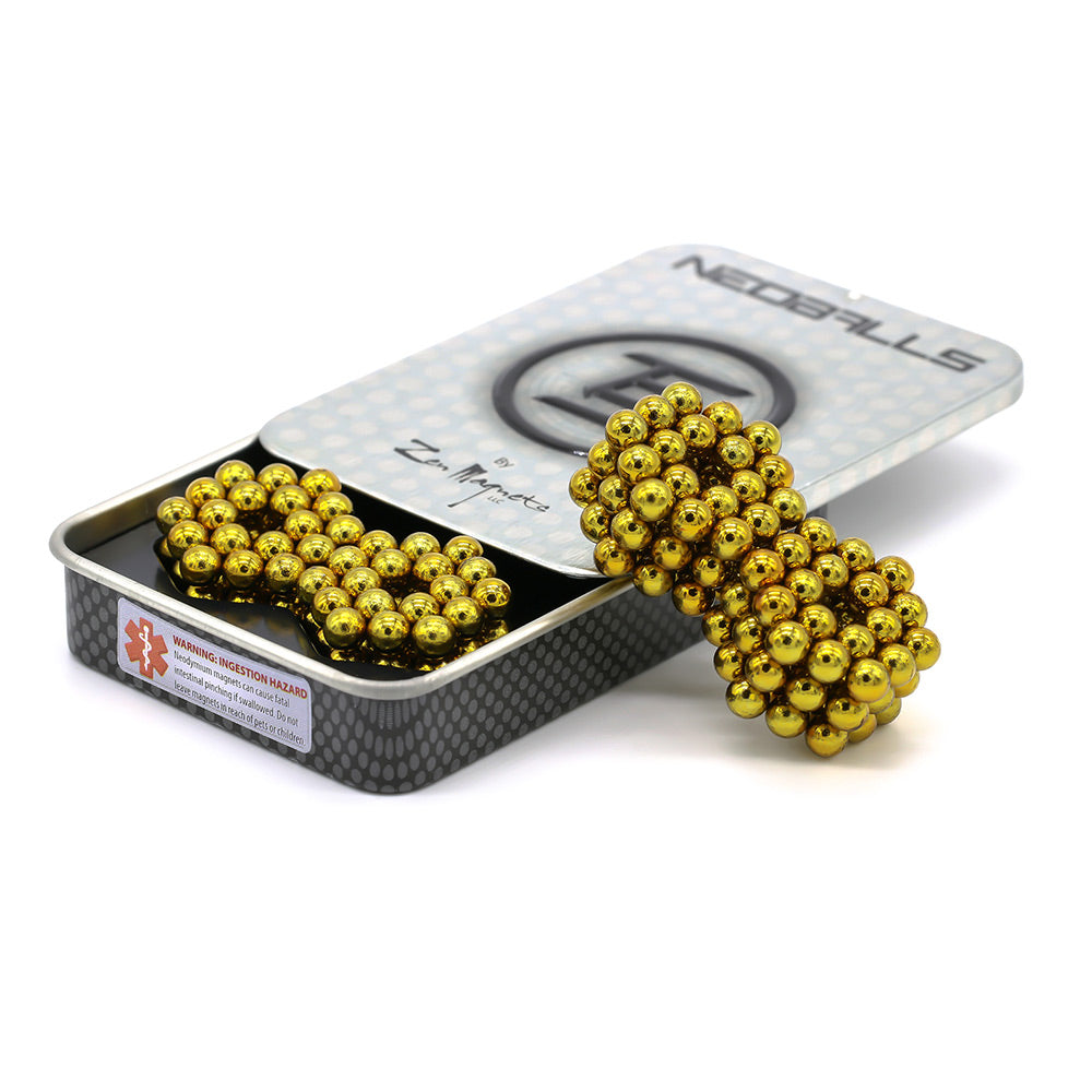 Clearance Neoballs 216 Yellow Magnetic Balls by Zen Magnets