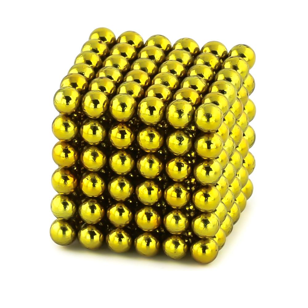 yellow neoballs sculpture magnet spheres