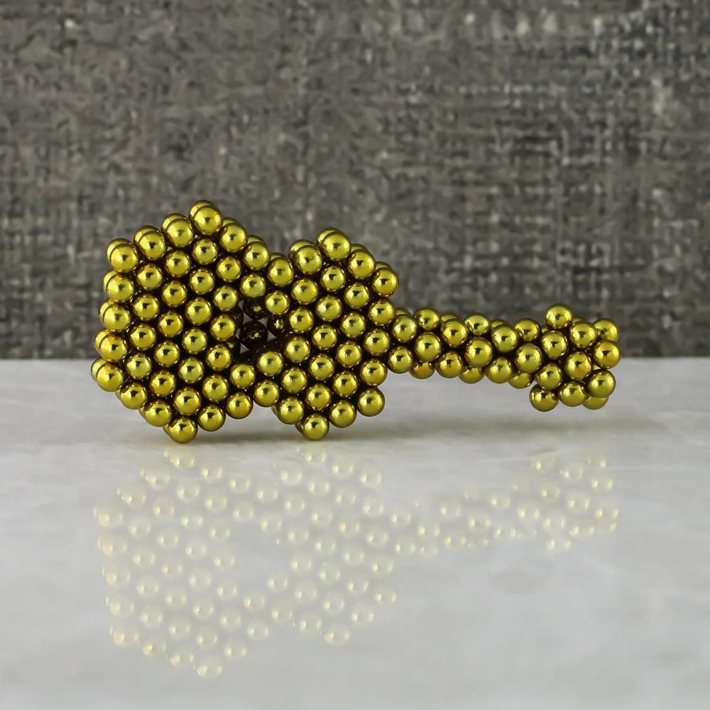 yellow neoballs sculpture magnet spheres guitar