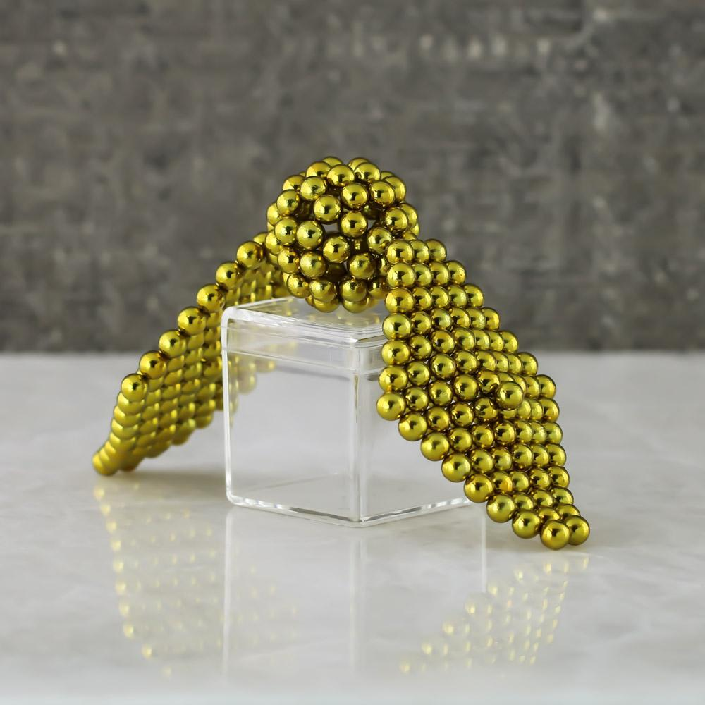yellow neoballs sculpture magnet spheres golden snitch