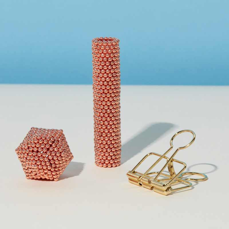 rose gold colored miniature magnet balls by speks