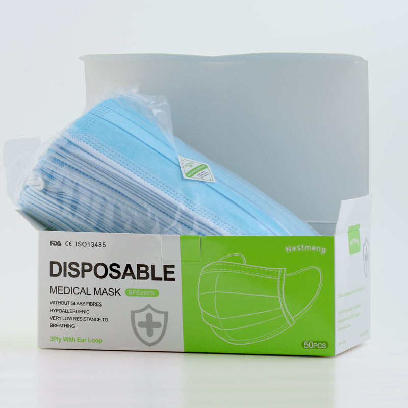 50x 3-Ply Surgical Masks