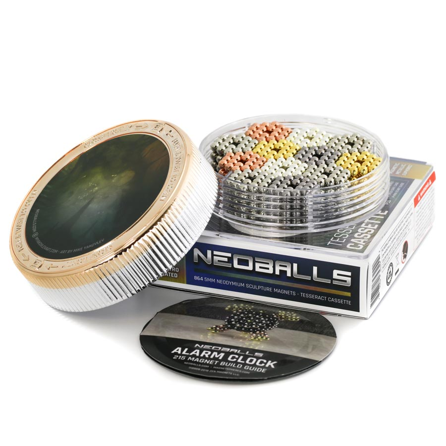 Multimetal neoballs tesseract magnet balls rose gold silver nickel