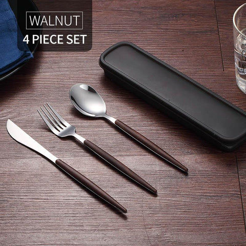 Image of Stainless Steel Portable Tableware Set