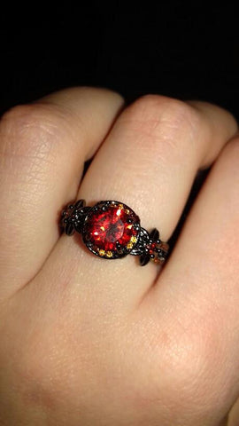 Image of July Birthstone Ruby Ring