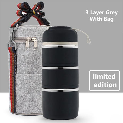 Image of Compartment Lunch Box & Bag