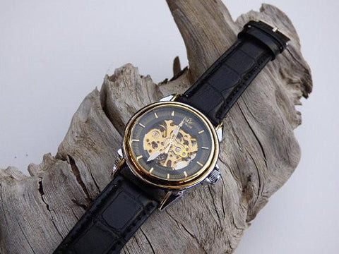 Image of SEWOR Skeleton Leather Watch