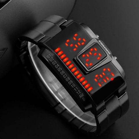 KIT - SicFic LED Stainless Steel Digital Watch