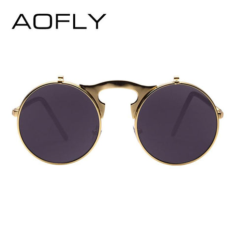 Open Glass Steampunk Sunglasses