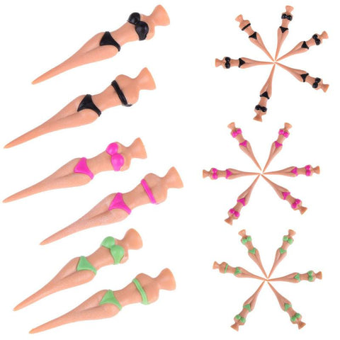6pc/Set of Sexy Bikini Golf Tees