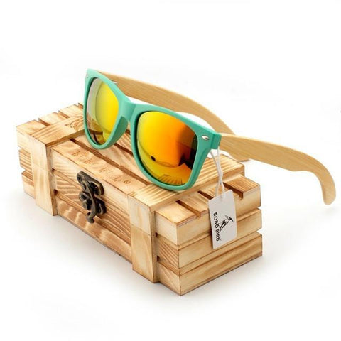 Image of Men's Bamboo Wood Sunglasses