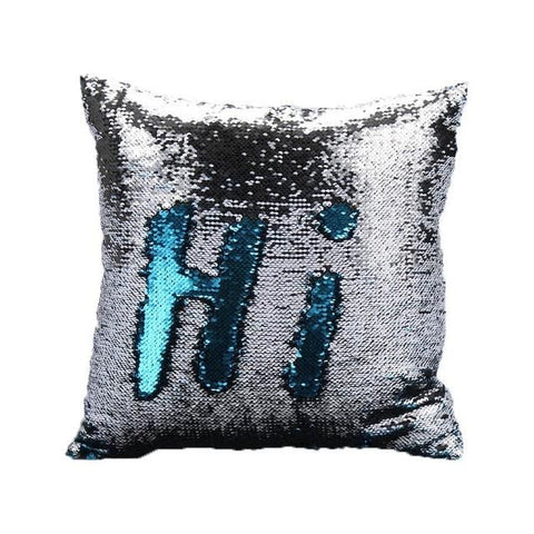 Image of Reversible Sequin Mermaid Sequin Cushion Cover