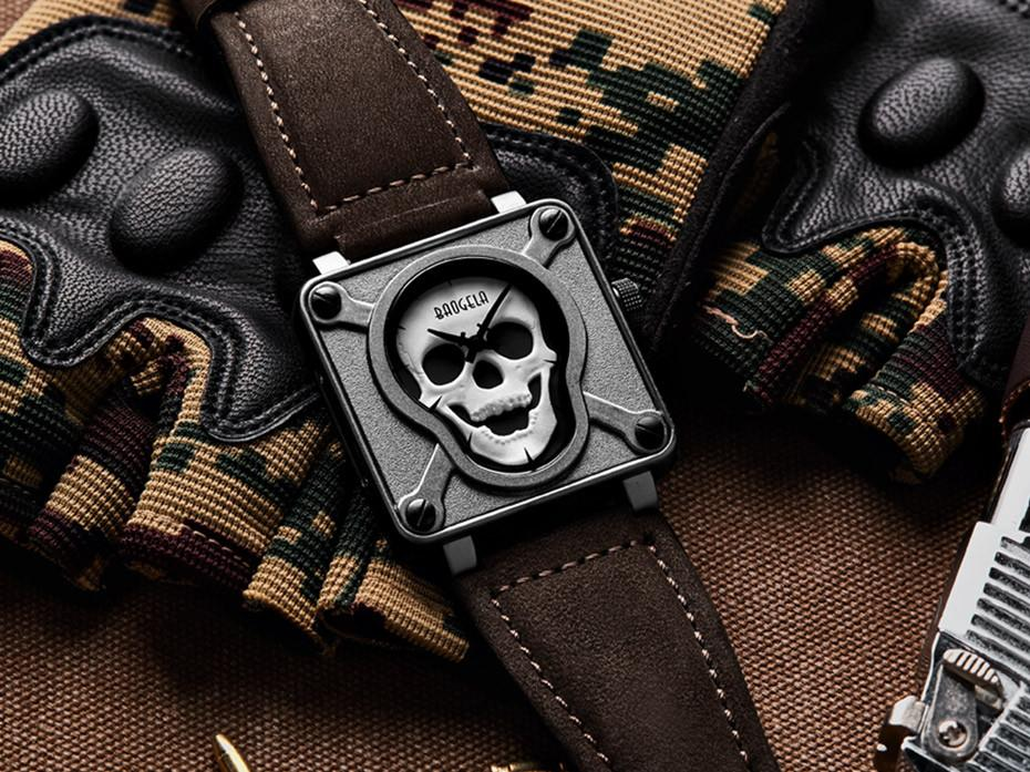 Square Skull Wrist Watch