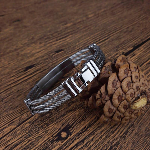 2017 New Premium Stainless Steel Cross Bracelet