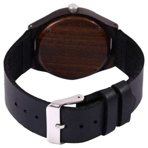 Skull Pattern Wooden Wristwatch