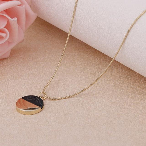 Image of Gold Dipped Marble Pendant Necklace