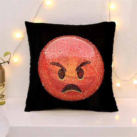 Image of Changing Face Emoji Cushion Covers