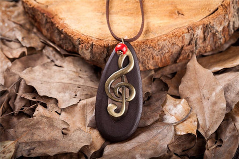 Image of Handmade Music Note Necklace