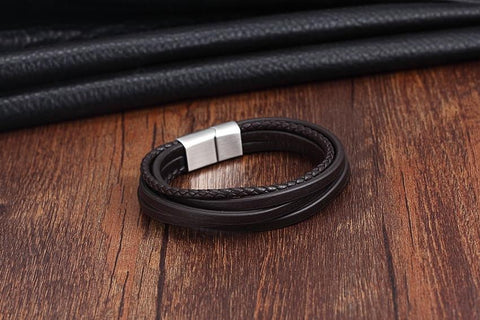 Image of Men's Vintage Leather Bracelet