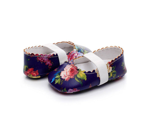 Image of Floral First Walker Baby Shoes