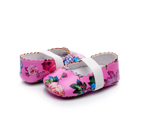 Floral First Walker Baby Shoes