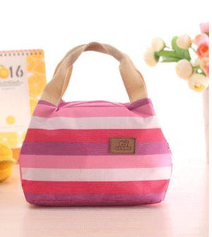 Pin Stripe Thermal Lunch Bag