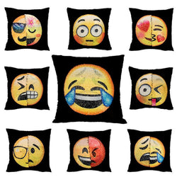 Changing Face Emoji Cushion Cases