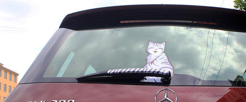 Grumpy and Happy Cat Car Wiper Sticker