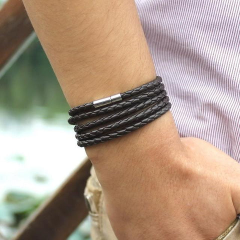 Image of Retro Leather Bracelet (5 laps)