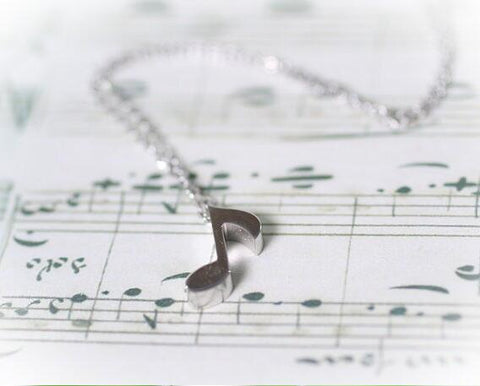 Image of Musical Note Necklace