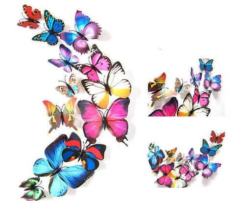 Image of 12 Pcs/Lot 3D Butterfly Decals