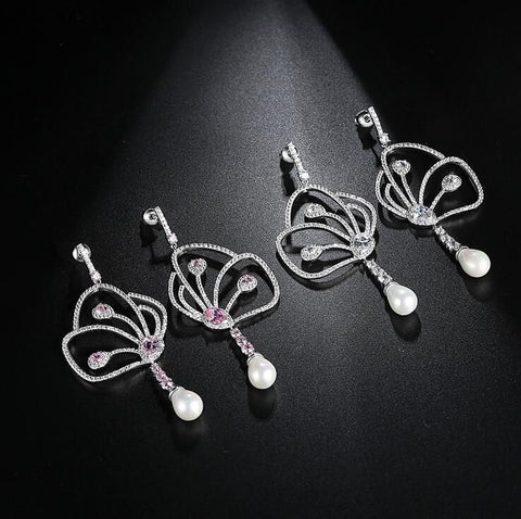 Butterfly Pearl Earrings