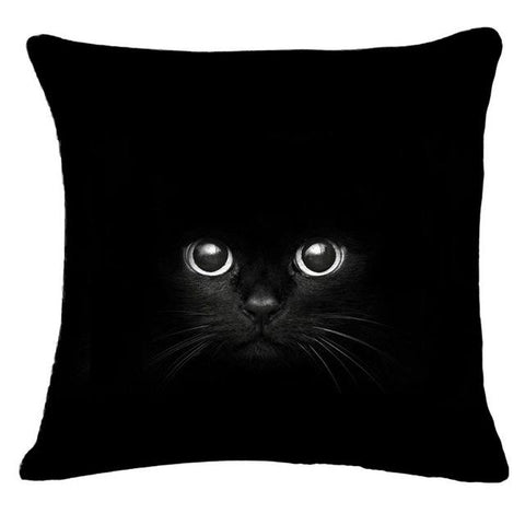Image of Black Cat Cushion Covers