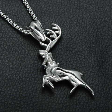 Stag Pendant & Necklace