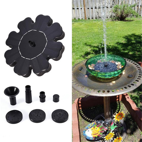 Solar Power Fountain for Bird Baths