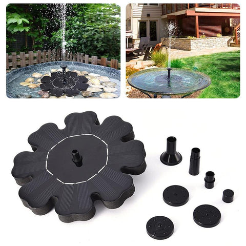 Image of Solar Power Fountain for Bird Baths