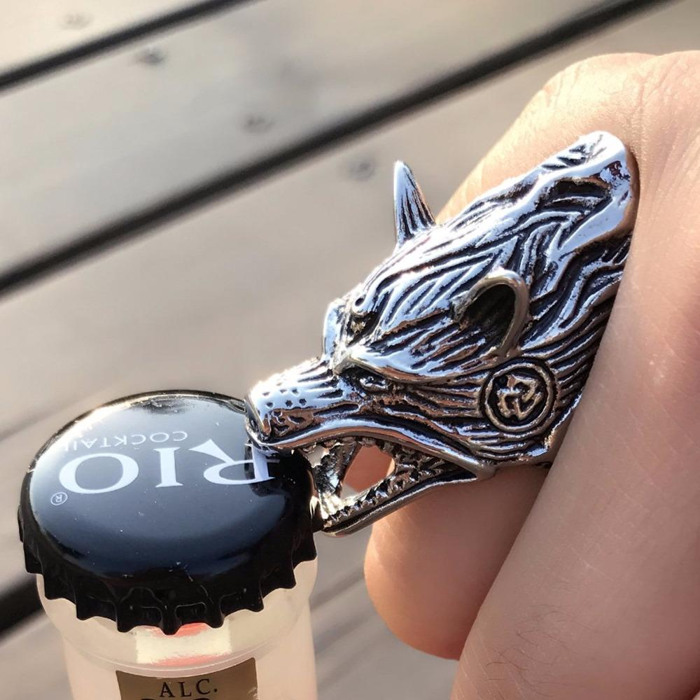 KASP Viking Wolf Head Ring