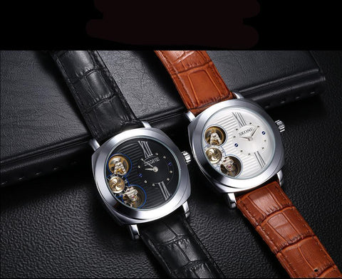 Image of SKonex Self-Wind Leather Watch