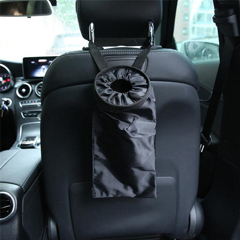 Image of Waterproof car trash can back seat