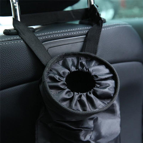 Waterproof car trash can back seat