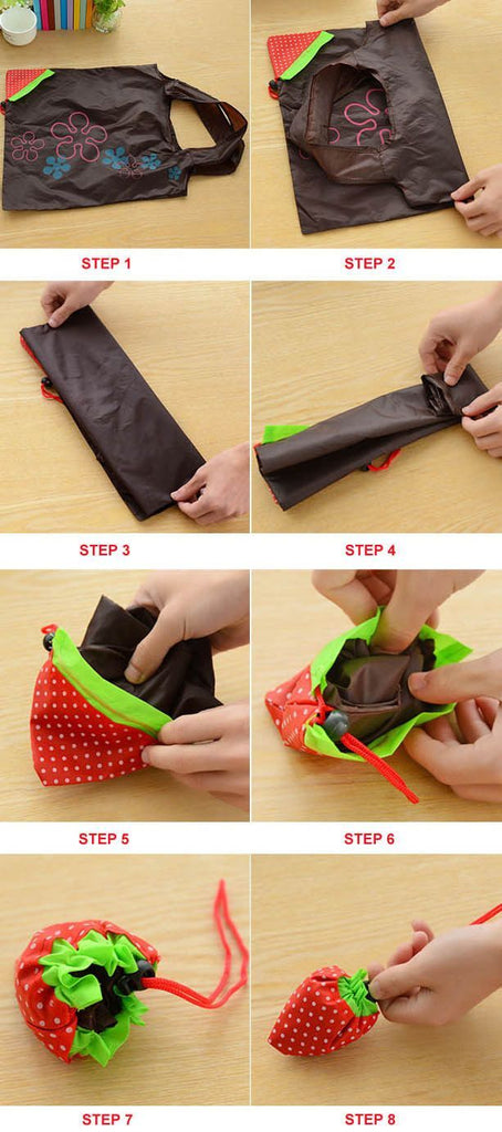Folding Nylon Grocery Bag