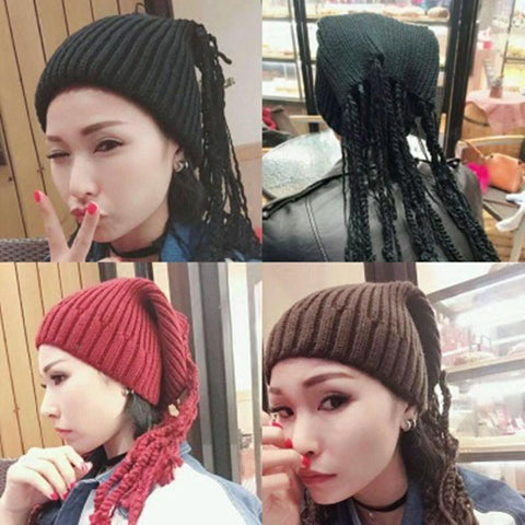 Knitted Hat Ponytail
