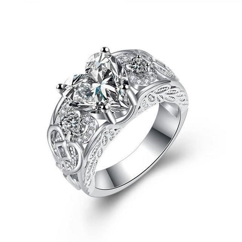 Image of Queen of Hearts Steel Ring