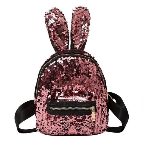 Image of Sequin Rabbit Ears Backpack