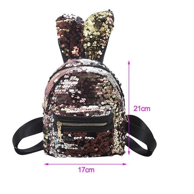 Sequin Rabbit Ears Backpack